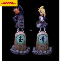10 Anime NARUTO Statue Akatsuki Bust Hidan VS Deidara Full Length Portrait With LED Light GK Action Figure Toy BOX 27CM V634