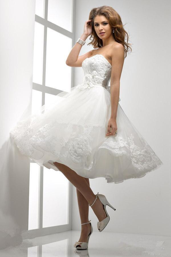 Free Shipping 2016 New Style Hot Sale Sexy Bride Wedding Sweet Princess Custom Size Lace Handmade Flowers White Bridesmaid Dress
