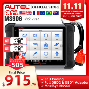 Image 1 - Autel MaxiSys MS906 Automotive Diagnostic Tool All System Code Reader Scanner with ABS/SRS/SAS/EPB PK MP808 DS808