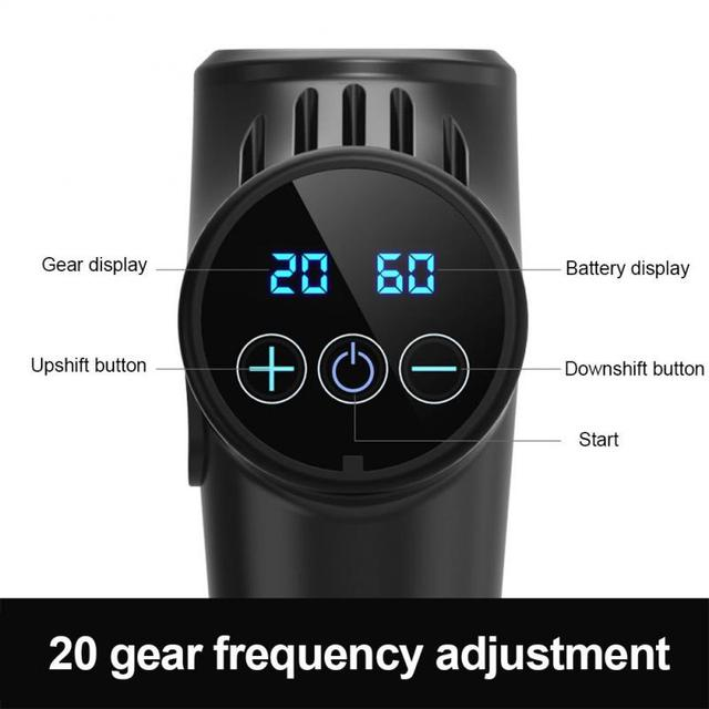 Electric Muscle Massager Therapy Fascia Massage Gun Deep Vibration Muscle Relaxation Fitness Equipment 1200-3300r/min dropship 3