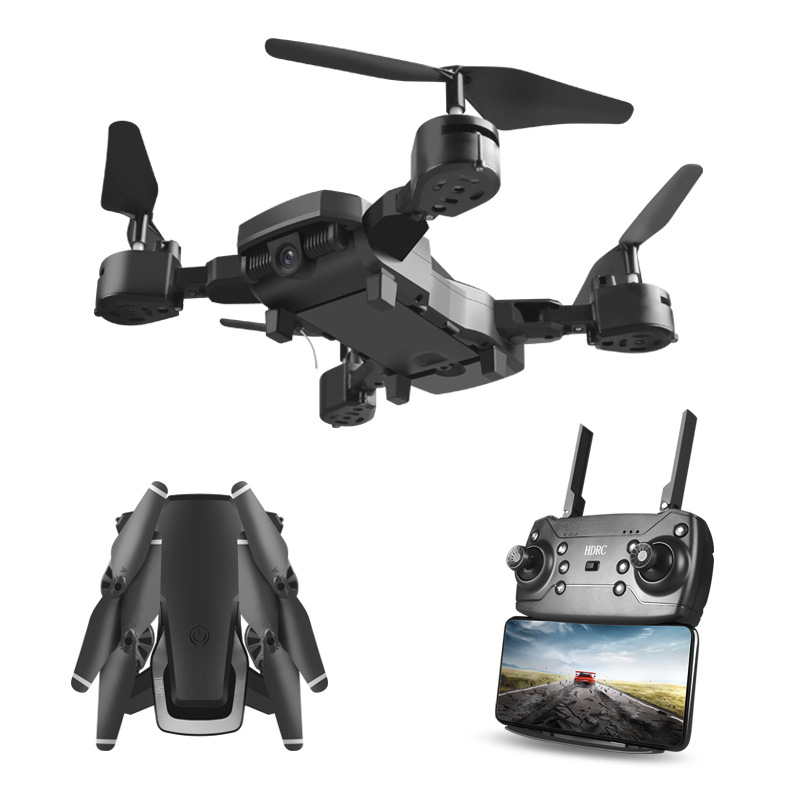 Folding Unmanned Aerial Vehicle High-definition Wide-angle Webcam Aerial Photography Wifi1080P Quadcopter Set High Remote Contro
