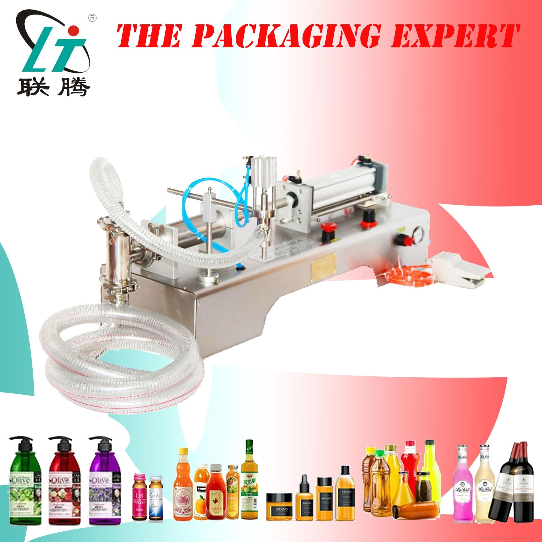 Fully Pneumatic Filler Liquid Water Liquor Shampoo Filling Machine Semi Auto Ejuice Eliquid Milk Drinks Condiment Free Shipping