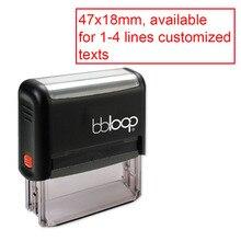 Bbloop Custom prostokątne biuro 1 4 linie pieczątka atramentowa