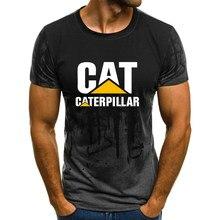 2021-gato caterpillar 3d camiseta verão diversão encarnação impressão camiseta masculina superior preto poliéster moda mangas curtas