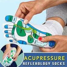 Acupressure reflexology meias fisioterapia massagem aliviar pés cansados reflexologia meias ponto pé meias dropshipping