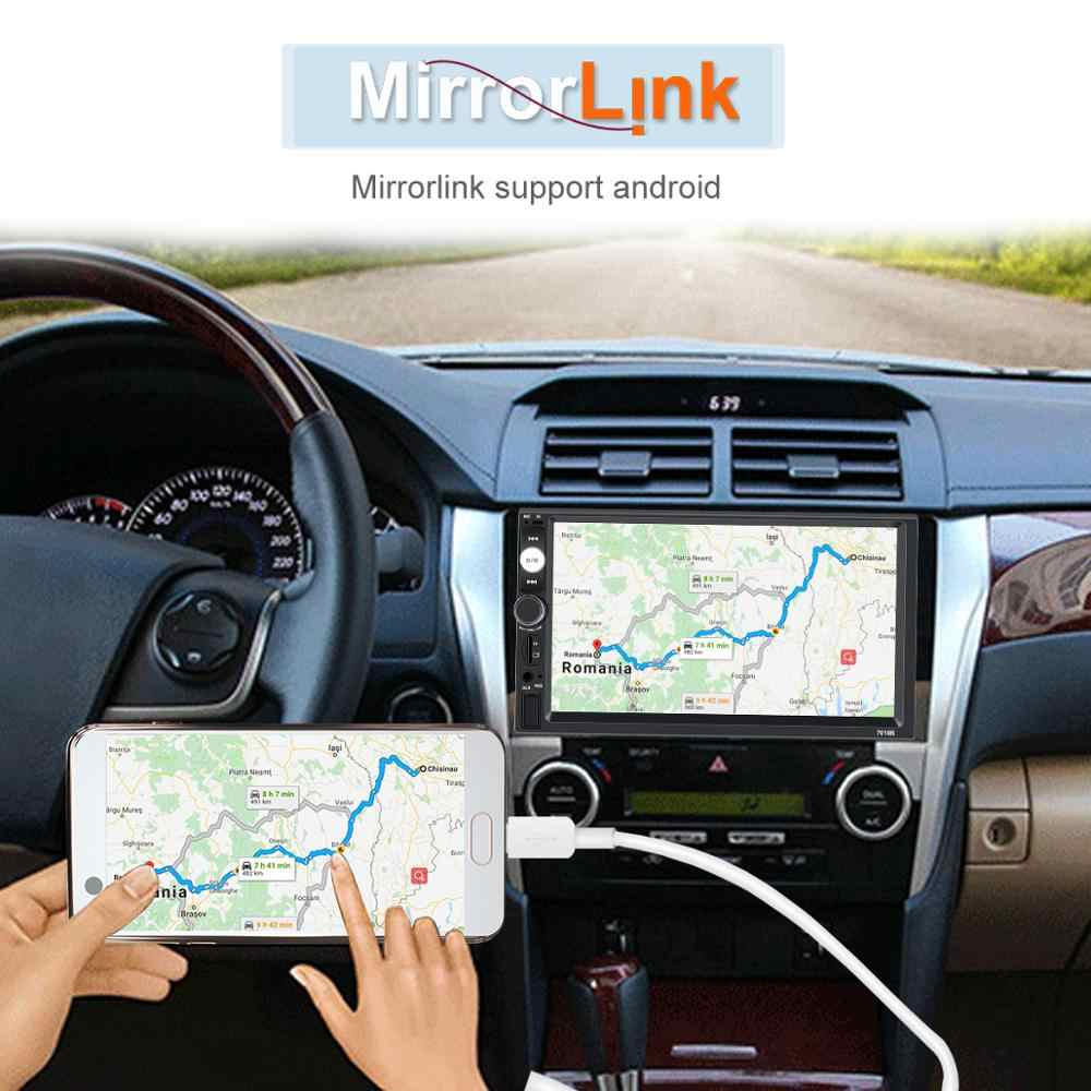 """Автомобильная магнитола HD 7 """"Авторадио с сенсорным экраном 2 din Кассетный рекордер автомобильное аудио Bluetooth Камера заднего вида MP5 зеркальный Link плеер 7010B"""
