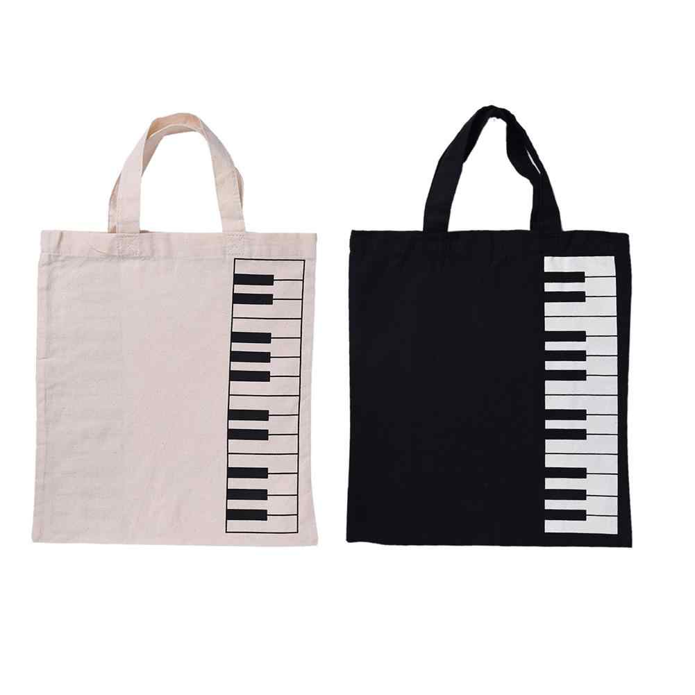Portable Cotton And Linen Piano Music Handbag Music Score Bag Keyboard Pattern Musical Bags Musical Instruments Appliance Bag
