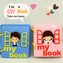 2 Styles of Boy & Girl's Story Theme Book Mom Sewing Felt DIY Craft Kit Handmade Montessori Picture Book For Baby Birthday Gift book boy
