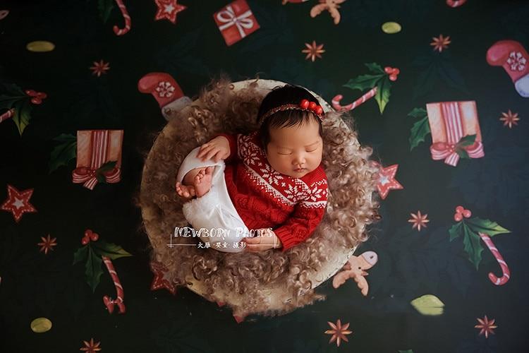 Jane Z Ann Newborn handmade England style sweater pants skirt set  Christmas festival twins brother sister photo props  costume 2