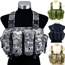 800d nylon Tactical Vests Military Camouflage Tactical Collection Airsoft Ak Rig Breast Munition Airsoft Ak Magazine Rig Chest