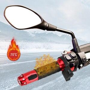 Image 1 - 2 adet motosiklet gidonu elektrikli sıcak ısıtmalı kolu sapları Moto modifiye gidon 22mm motosiklet aksesuarları