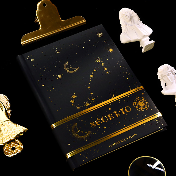Twelve Constellations Notebook Gilding Book Planner For Aries Libra Pisces Aquarius Scorpio Capricornus Leo Sagittarius Virgo