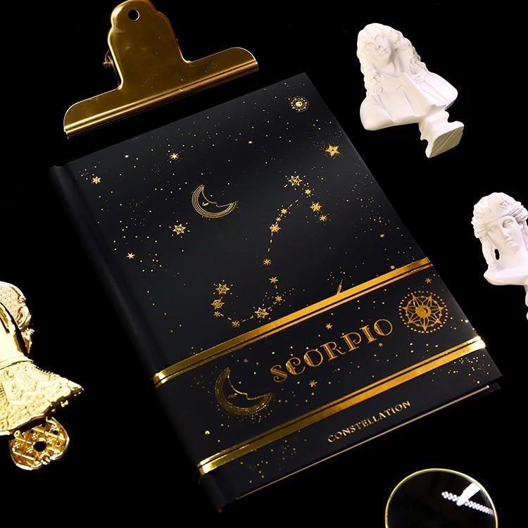 Twelve Constellations Notebook Gilding Book Planner For Aries Libra Pisces Aquarius Scorpio Capricornus Leo Sagittarius Virgo
