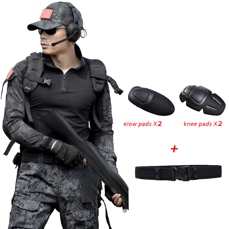 Military Uniform Army CamouflageTactical Clothing Men Female Uniforme Militar Combat Shirt CS Hunting Set Clothes With