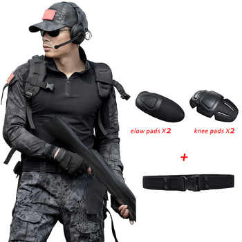 Military Uniform Army CamouflageTactical Clothing Men Female Uniforme Militar Combat Shirt CS Hunting Set Clothes With Knee Pads - DISCOUNT ITEM  49% OFF All Category