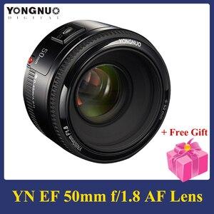 Image 1 - YONGNUO YN50mm F1.8 렌즈 5 개 그룹의 6 개 요소 대형 조리개 AF 자동 초점 FX DX Nikon D800 D300 D700 용 전체 프레임 렌즈