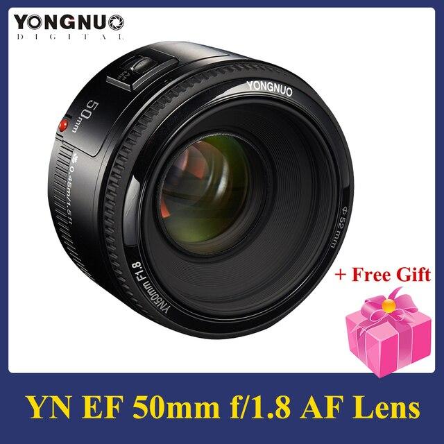 YONGNUO YN50mm F1.8 렌즈 5 개 그룹의 6 개 요소 대형 조리개 AF 자동 초점 FX DX Nikon D800 D300 D700 용 전체 프레임 렌즈