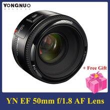 YONGNUO YN50mm F1.8 Lens 6 elemanları 5 grup büyük diyafram AF otomatik odaklama FX DX tam çerçeve Nikon için Lens D800 d300 D700
