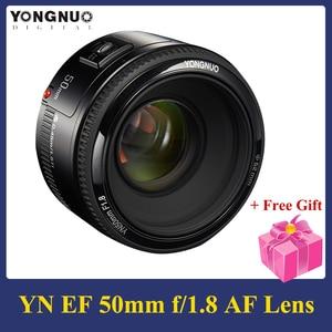 Image 1 - YONGNUO YN50mm F1.8 Ống Kính 6 Nguyên Tố Trong 5 Nhóm Khẩu Độ Lớn AF Lấy Nét Tự Động FX DX Full Frame Cho nikon D800 D300 D700
