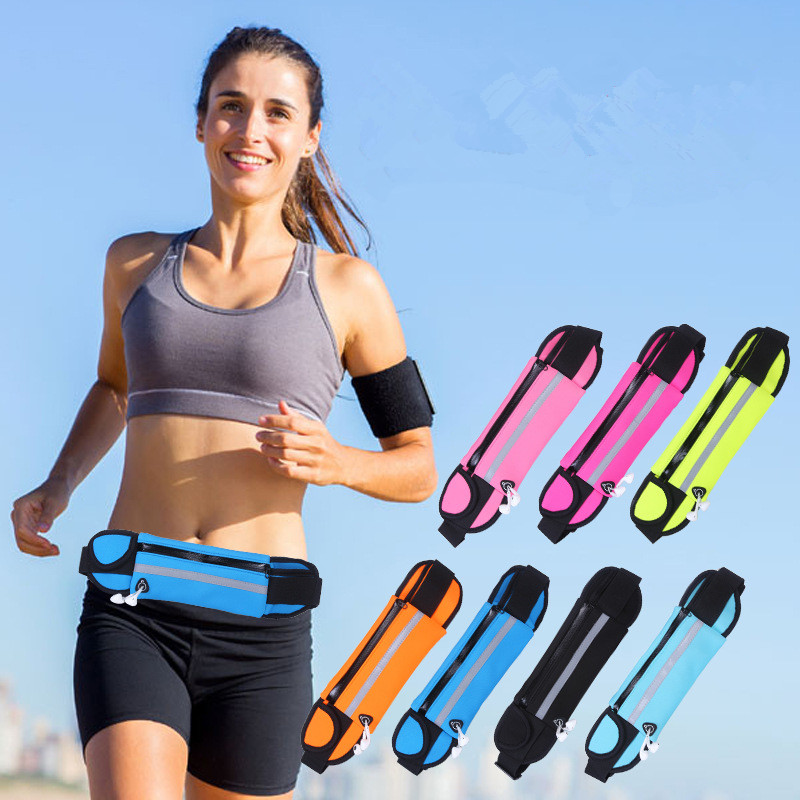 Sport Accessories Outdoor Running Waist Bag Waterproof Mobile Phone Holder Jogging Belt Belly Bag Women Gym Fitness Bag Lady