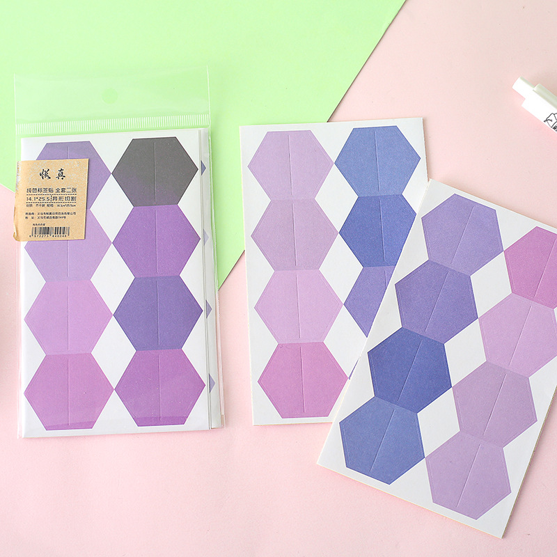 Купить с кэшбэком 48pcs/2 Sheet Candy Color Index Sticky Notes Notebook Planner Accessories Tool Index Sticky Sticker Message Notes Scratch Pad