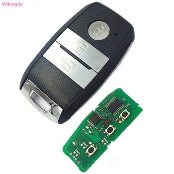 Wilongda  car accessorry 3 button smart car key 434mhz  pcf7952 id46 chip for New Kia K5 Sportage-R keyless remote key