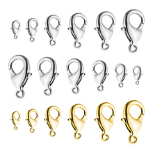 20pcs/lot Lobster Clasps Stainless Steel Jewelry Finding Clasp Hooks for Diy Necklace & Bracelet Chain Making 9/10/12/15MM 50 pairs breakaway plastic clasps for silicone teething necklace pacifier diy safety clasp for baby bracelet chain lobster clasp