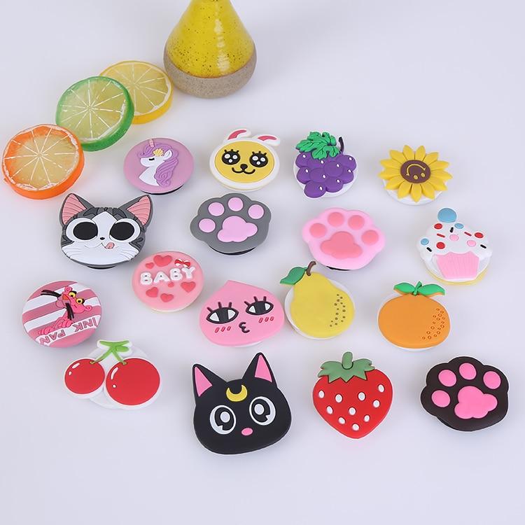 Popping Phone Hot Holder Socket Expanding Stand And Grip Finger Ring Phones попсокет Cute Cartoon Animal Dog Cat Fruit Bracket