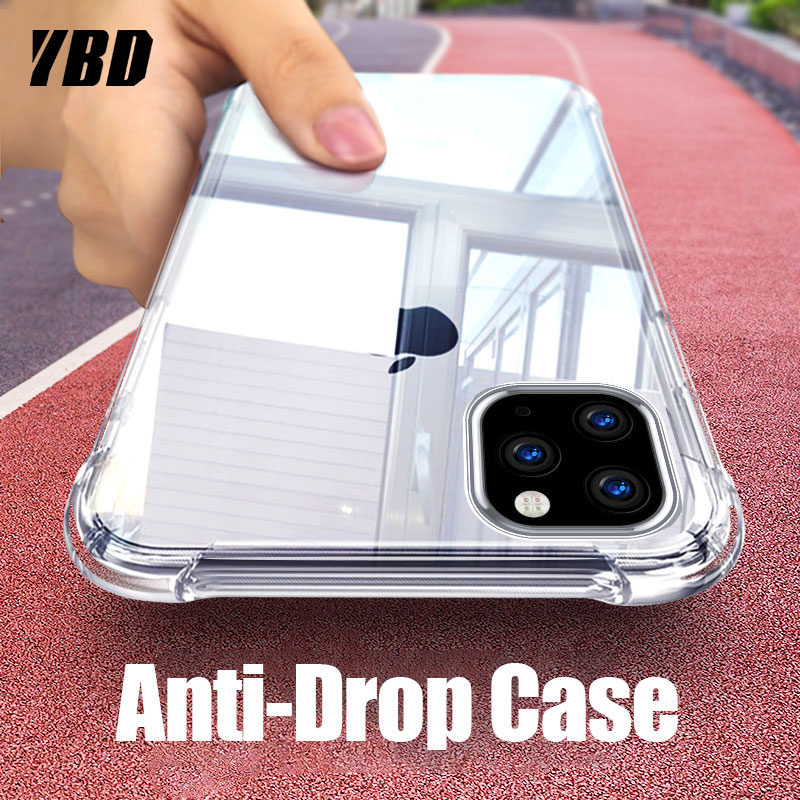 YBD 11 Caixa Transparente para o iphone 2019 Macio Claro Capa De Silicone Protetora para iPhone 11 Pro Max 5.8 6.1 6.5 2019 Casos