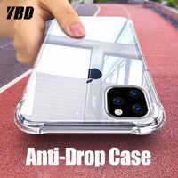 YBD Trasparente di Caso per il iPhone 11 2019 Molle Libera Della Copertura Protettiva In Silicone per il iPhone 11 Pro Max 5.8 6.1 6.5 2019 Custodie