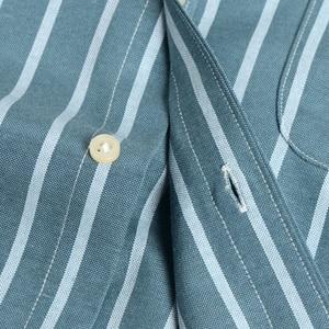 Image 5 - Camisa Casual de trabajo para hombre, camisa a cuadros a rayas Oxford, con bolsillo tipo parche, de manga larga, de cuadros gruesos