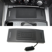 10W car QI wireless charger mobile phone charger chargring plate accessories for Audi A6 C7 RS6 A7 2012- for iPhone 8 X