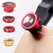 Telefon objektiv Fisheye 0,67 x Weitwinkel Zoom objektiv fisch auge 6x makro linsen Kamera Kits mit Clip objektiv auf die telefon für smartphone