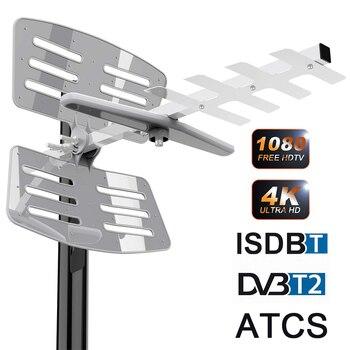 DVB-T2/DVB-T Outdoor Digital TV Antenna HDTV TDT Antenna ATSC ISDB-T DVBT2 150 MILES RANGE DVB T2 TV HD Antena Amplifier UHF