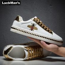 Male Sneakers Men Shoes Golden-Footwear Cool Street Sport Casual Brand Man