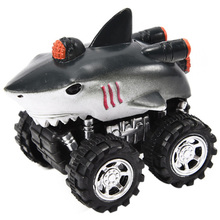 For Kids Animal Style Car Model Mini Toy  Vehicle Pull Back Cars With Big Tire Wheel Creative Gifts Shark
