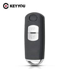 KEYYOU 2 кнопки смарт дистанционные брелки для ключей в виде ракушки чехол для ключей для Mazda CX-3 CX-5 Axela Atenza с аварийным ключом
