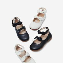 Girl Leather Shoes Children Soft Sole Bottom Anti-slip Schoo