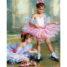 Painting By Numbers Canvas Figure Girl Oil Colouring Paints Home Decor 50x40cm Kits