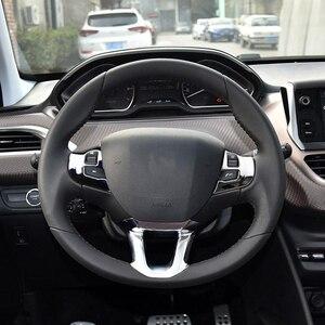 Image 3 - Zlord 3 Teile/satz Auto Lenkrad Dekoration Abdeckung Trim Aufkleber Fit für Peugeot 2008 208 308 2014 2015 2016 2017 2018 2019