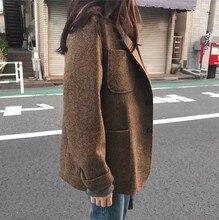 Elegant Beige Khaki Gray  Women Coats Winter Short 2018 Female Wool Overcoat Woolen Full Sleeve Woman Casual Coat Lady Outerwear