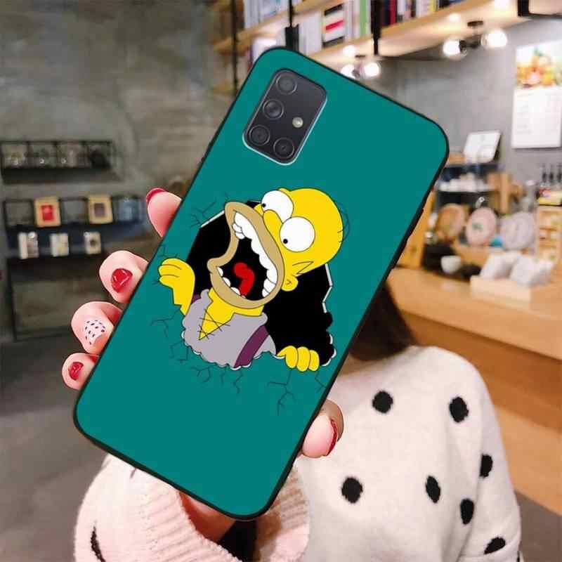 Hoạt Hình The Simpsons Mới Đến Đen Đựng Điện Thoại Di Động Samsung A10 A20 A30 A40 A50 A70 A80 A71 A51 a6 A8 2018