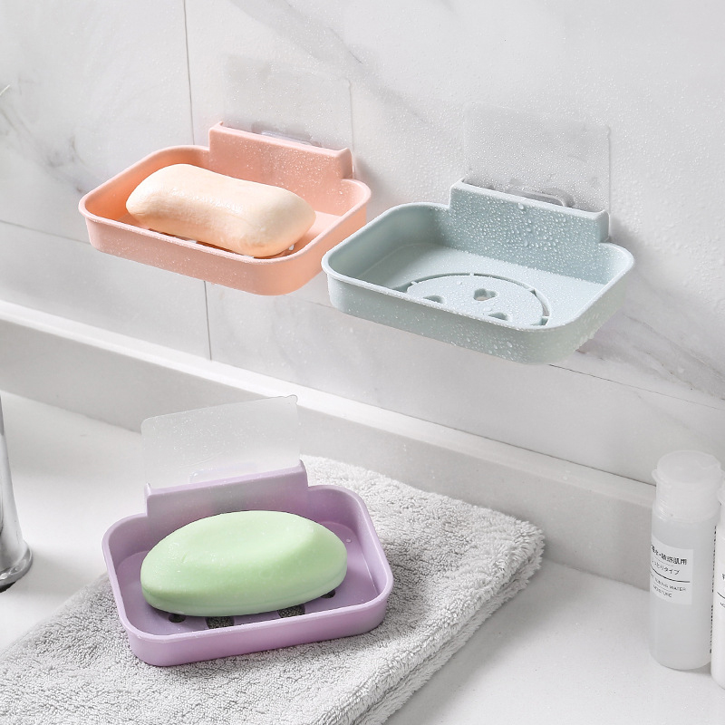 Wall Mount Bathroom Shower Soap Container Box Dishes Holder Basket Bath