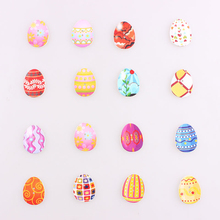 Mixed Colored eggs 2Hole Wooden Buttons Christmas DIY Decor Child Clothes Sewing Crafts Scrapbooking Decorativos E