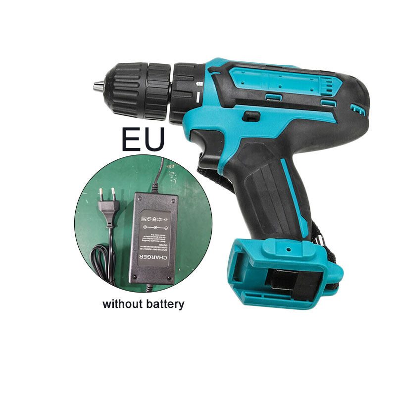 25V 2 Speed 18 Electric Cordless Drill Torque Driver LED Tool Adjustment Powered By LI-ION Rechargeable No Battery 100-240V AC
