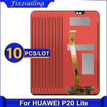 10 sztuka 2280*1080 AAA jakości 100% test LCD dla HUAWEI P20 Lite wyświetlacz Lcd ekran dla HUAWEI P20 Lite ANE-LX1 ANE-LX3 Nova 3e