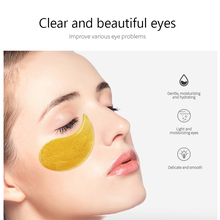 60Pcs Facial Skin Care Set Gold Collagen  Moisturizing Anti Wrinkle Collagen Eye Patch Remove Dark Circles Mask Makeup Set TSLM1