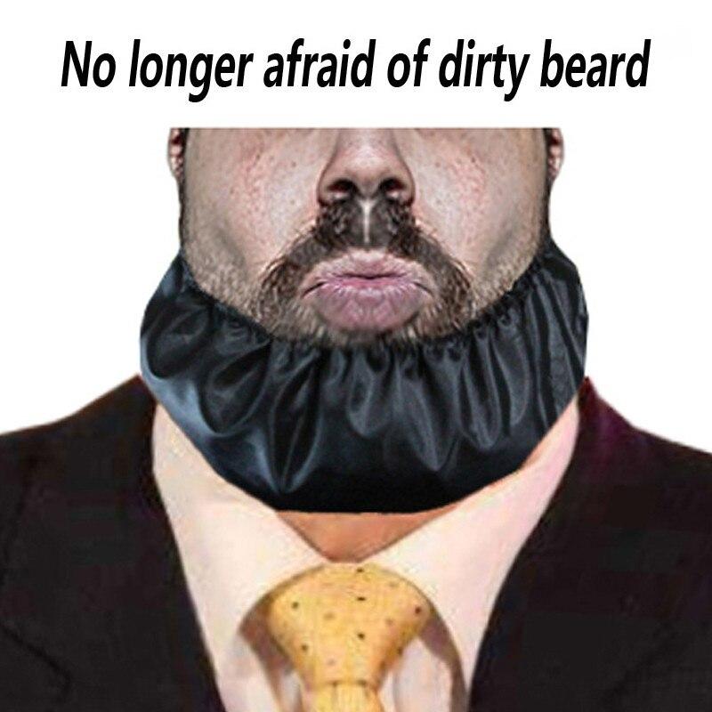 Black Beard Big Bandana Anti Stick Rice Beard Mask Men's Handmade Beard Guard Anti Dirty Beard  Bandana Silk Lining Gift For Men
