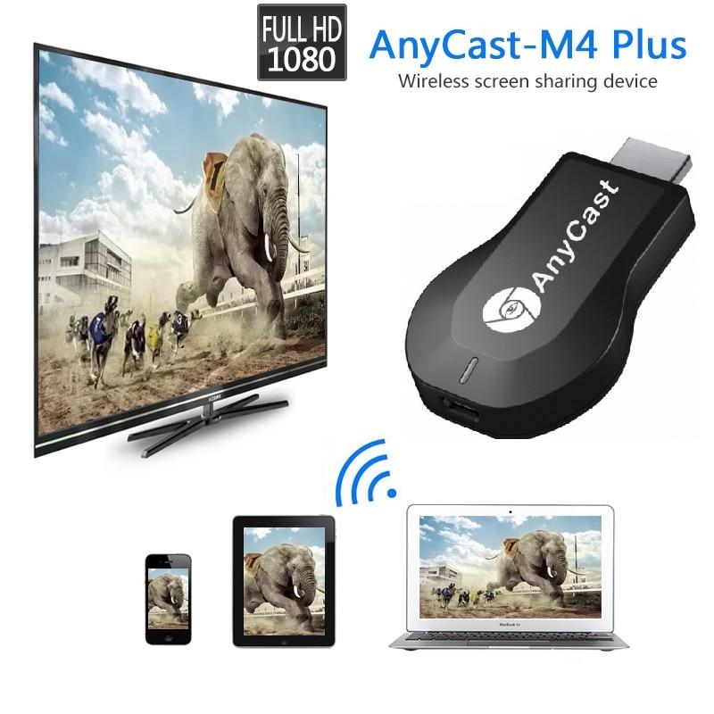 Anycast M4plus Chromecast 2, зеркальное отображение нескольких для ТВ-приставки, мини-адаптер Android Chrome Cast Wi-Fi HDMI 1080P M4 plus