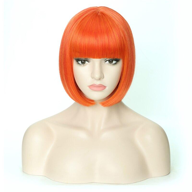 sintético com franja 12 polegadas macio perucas